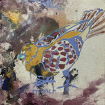 Pigeon Triptych (detail) by Grace Hoag