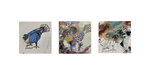 Pigeon Triptych by Grace Hoag
